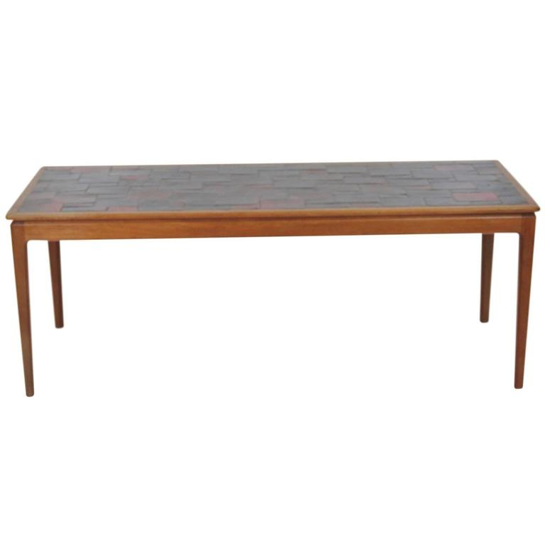 Tiled Console Table ~ Modern tile top walnut console table for sale at stdibs