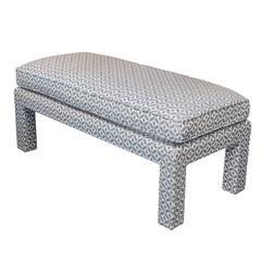 Down-Filled Upholstered Parsons Bench