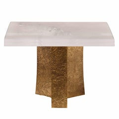 Rock Crystal Quartz Square Cocktail Table