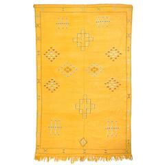 Moroccan Sabra Bamboo Silk Kilim