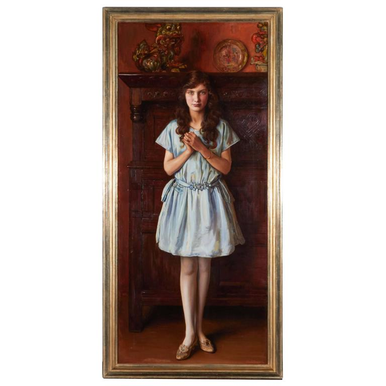 Portrait of a Young Woman by Ralph Peacock For Sale