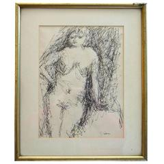 Drawing of Female Nude