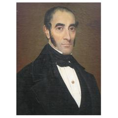 19th Century American Oil Painting of a Gentleman