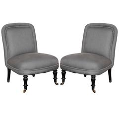 Napoleon III Slipper Chairs