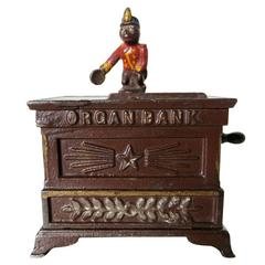 "Mechanical Bank ""Organ Bank, Miniature"", circa 1881"