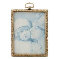 Gold Photo Frame Etched 14k Large Format