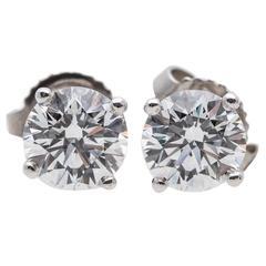 Tiffany & Co. 1.46 Carat Diamond Stud Earrings