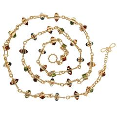 Peridot Blue Topaz Citrine Floating Stone Necklace