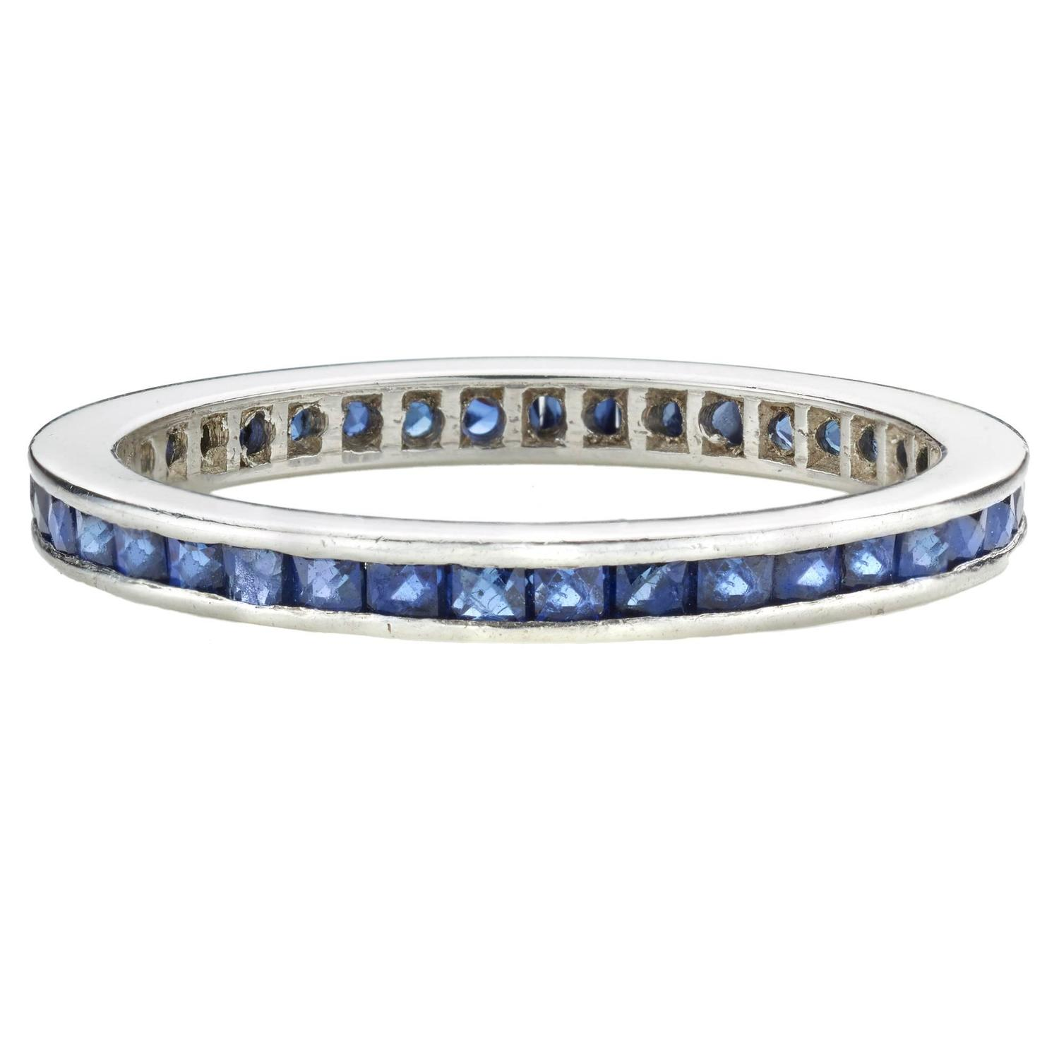 wg band bands art sapphire nl gemstone set round in wedding gold jewelry pave deco blue white anniversary with diamond