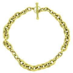 Kieselstein-Cord Massive Gold Link Toggle Necklace