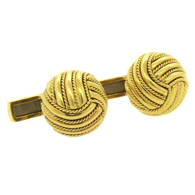 Large Tiffany & Co. Gold Knot Cufflinks