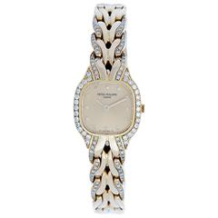 Patek Philippe Lady's yellow gold diamond LaFlamme Quartz Wristwatch