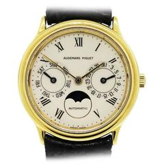 Audemars Piguet yellow gold Classic Day-Date Moonphase Wristwatch