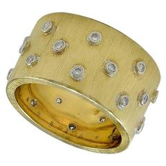 M. Buccellati Diamond Gold Band Ring