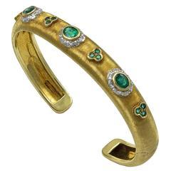 Mario Buccellati Gold Emerald Bracelet