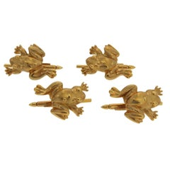 Gold Frog Shirt Studs - Set of 4