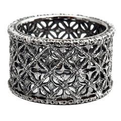 Mario Buccellati Diamond Gold Band Ring