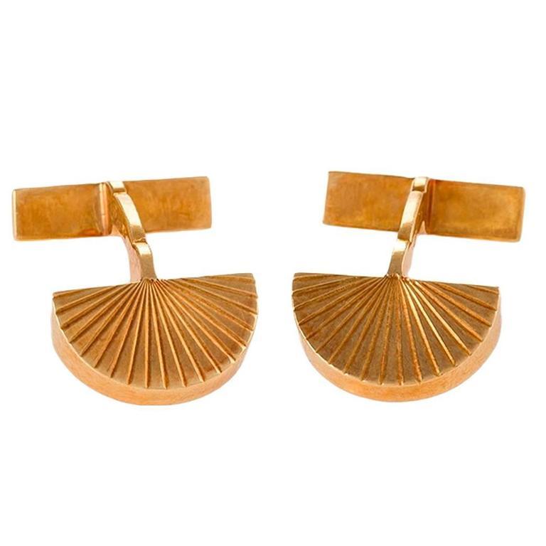 Cartier Paris 1960's Gold Cuff Links For Sale
