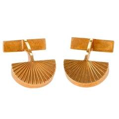 Cartier Paris 1960s Gold Cuff Links
