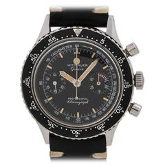 Wittnauer Geneve Stainless Steel Professional Chronograph Wristwatch
