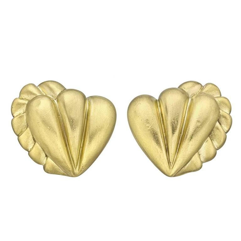 Kieselstein-Cord Fluted Yellow Gold Earclips