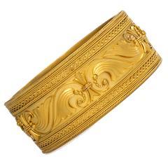 Antique English Gold Cuff Bracelet