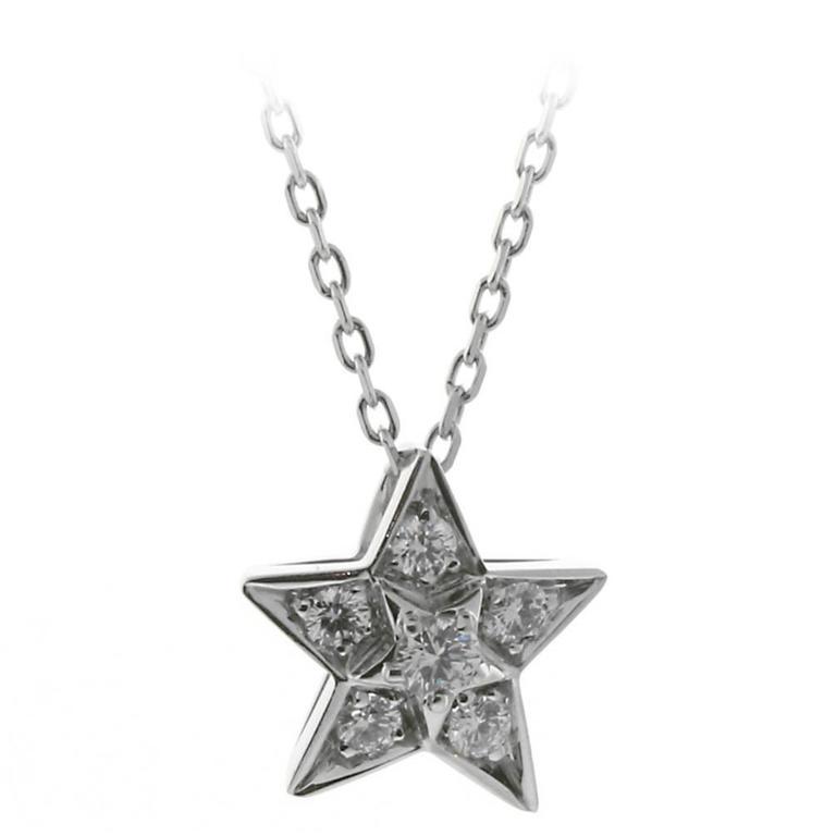 Chanel Comete Diamond Gold Necklace 1