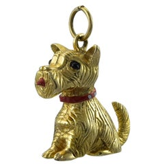 Westie Gold and Enamel Charm