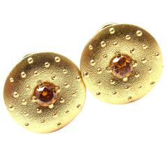Alex Sepkus Fancy Brown Diamond Gold Earrings