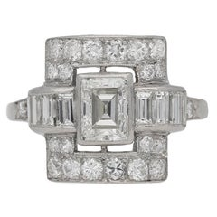 Art Deco diamond ring, American, circa 1935.