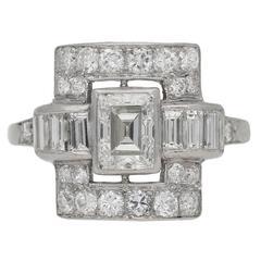 Art Deco diamond ring, American, circa 1935.