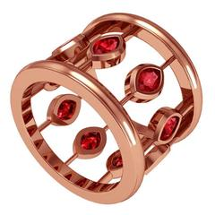 Melody Deldjou Fard & Sparkles Ruby and Gold Ring