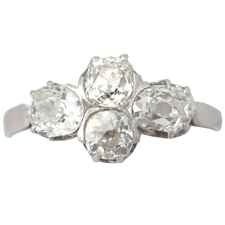 antique four platinum dress ring at 1stdibs