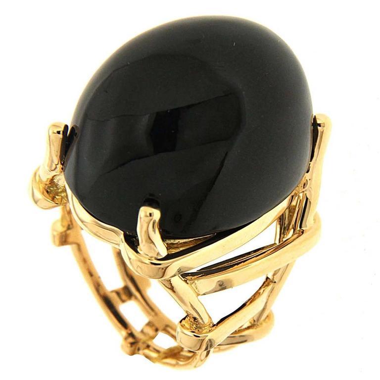 Trellis Black Jade Gold Ring