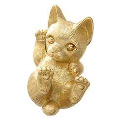 Henry Dunay Gold Pussy Cat Brooch