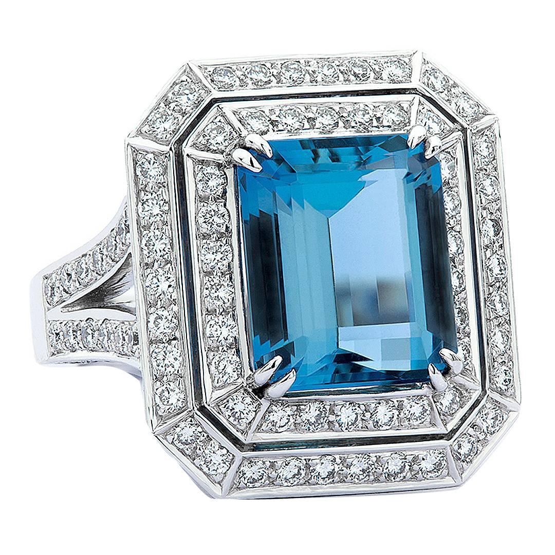 Santa maria aquamarine diamond gold ring for sale at 1stdibs for Santa maria jewelry company