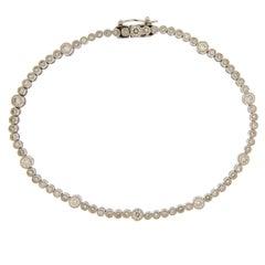 Jona White Diamond 18 Karat White Gold Tennis Bracelet