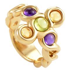 Chanel Multi-Gem Gold Ring
