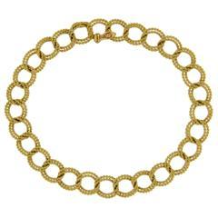 Jona Yellow Gold Link Bracelet