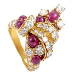 Piaget Ruby Diamond Gold Ring