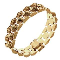 Rose Gold Link Bracelet, 1960s Vintage