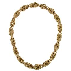 Italian Gold Necklace Convertible to Two Bracelets