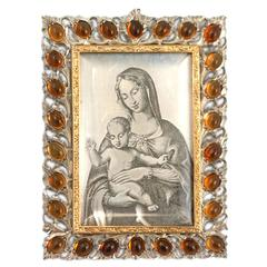 Buccellati Citrine Silver Gold Madonna Miniature
