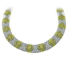 Diamond Two Tone Gold Necklace