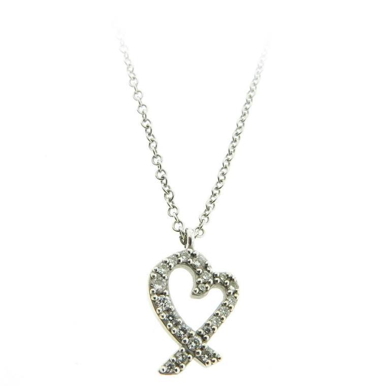 Tiffany and co paloma picasso diamond gold loving heart pendant paloma picasso diamond gold loving heart pendant for sale aloadofball Image collections