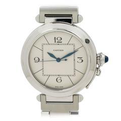 Cartier Stainless Steel Pasha C Wristwatch Ref W31072M7