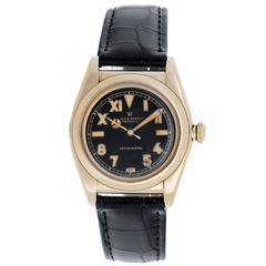Rolex Yellow Gold Oyster Perpetual Bubbleback Automatic Wristwatch