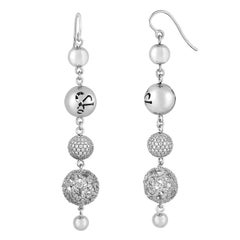 Jacob & Co. 4.64 Carats Diamond Gold Lace Ball Drop Earrings