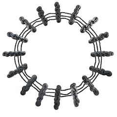 William Ehrlich Diamond Silver Zig Zag Necklace
