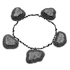 William Ehrlich Pyrite Rock Silver Diamond Necklace